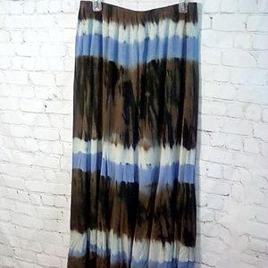 Karen Kane size 1X tie dye maxi skirt